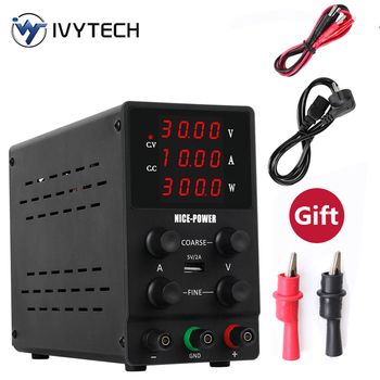 New Black Laboratory Power Supply 30V10A 60V 5A DC Power Supply Four-digit Display Desktop DC Power Supply Matching Gifts image