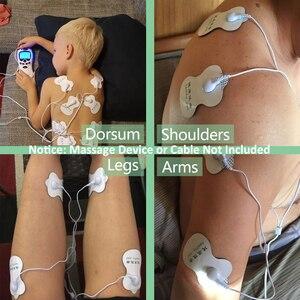 Image 3 - 30 قطعة EMS منصات الكهربائي للكهرباء عشرات الوخز بالإبر آلة العلاج الرقمي التخسيس الكهربائية الجسم مدلك تردد التصحيح