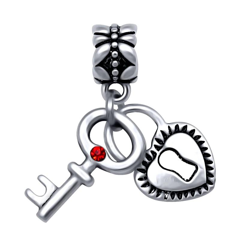 Silver Plated Heart Lock And Key Pendant Charms Bead Fit Pandora Charm Bracelets Bangles Diy Jewelry Making Spp070 Pandora Charm Bracelet Fit Pandoradiy Jewelry Making Aliexpress