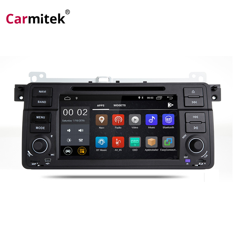 1 din Android 8.0 Radio Car DVD Player for BMW E46 GPS Navigation Multimedia Wifi 4G 3G GPS Bluetooth Radio RDS Canbus DVR Cam image