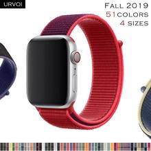URVOI Спортивная петля для apple watch band series 5 4 3 2 1 светоотражающий ремешок для iwatch двухслойный дышащий тканый нейлон осень