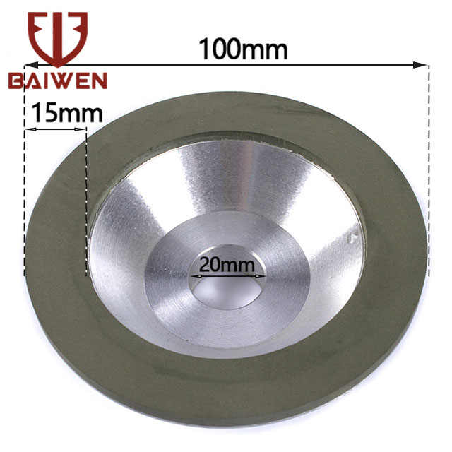 5/'/' Grit 100-600 Cup Diamond Grinding Wheel Carbide Grinder for Cutter Sharpener