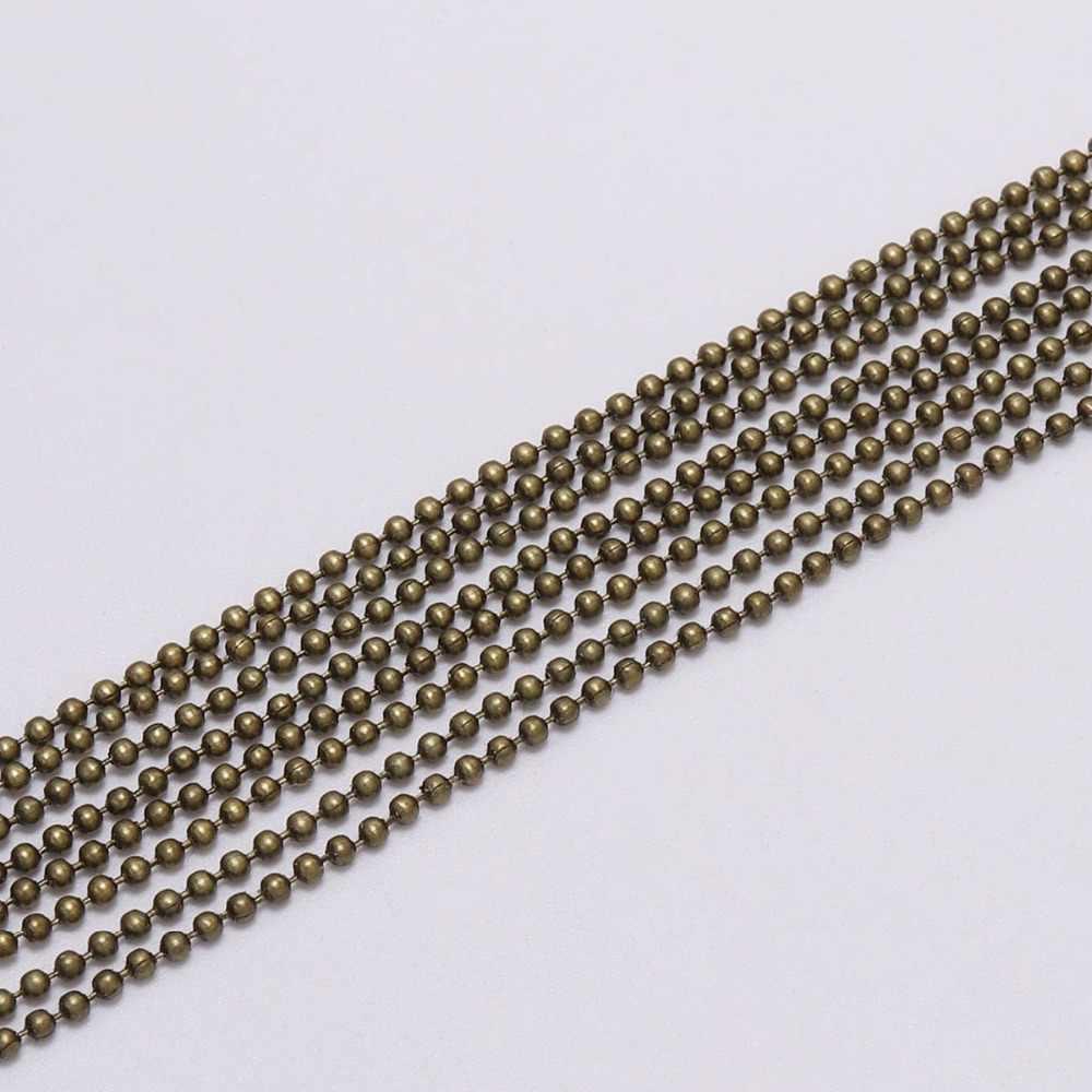 5 เมตร/ล็อต 1.2 1.5 2 มม.ลูกปัดโซ่จำนวนมากทอง/ดำ/เงินโซ่ Link สำหรับ DIY สร้อยคอสร้อยข้อมือเครื่องประดับ Supplie