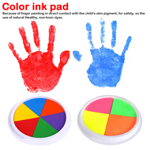 2 Colors DIY Ink Pad Stamp Finger Painting Craft Cardmaking Large Round For Kid Children Child Creativity Imagination Education