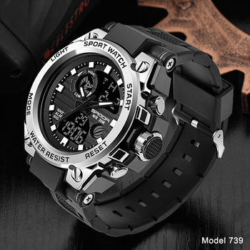 SANDA Top Luxury Watches Men Military Army Mens Watch Waterproof Sport Wristwatch Dual Display Watch Male Relogio Masculino 13