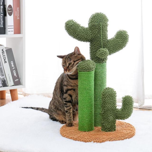 Drop Shipping Cat Cactus Tree Pet Cat Tree Toys with Ball Scratcher Posts 5