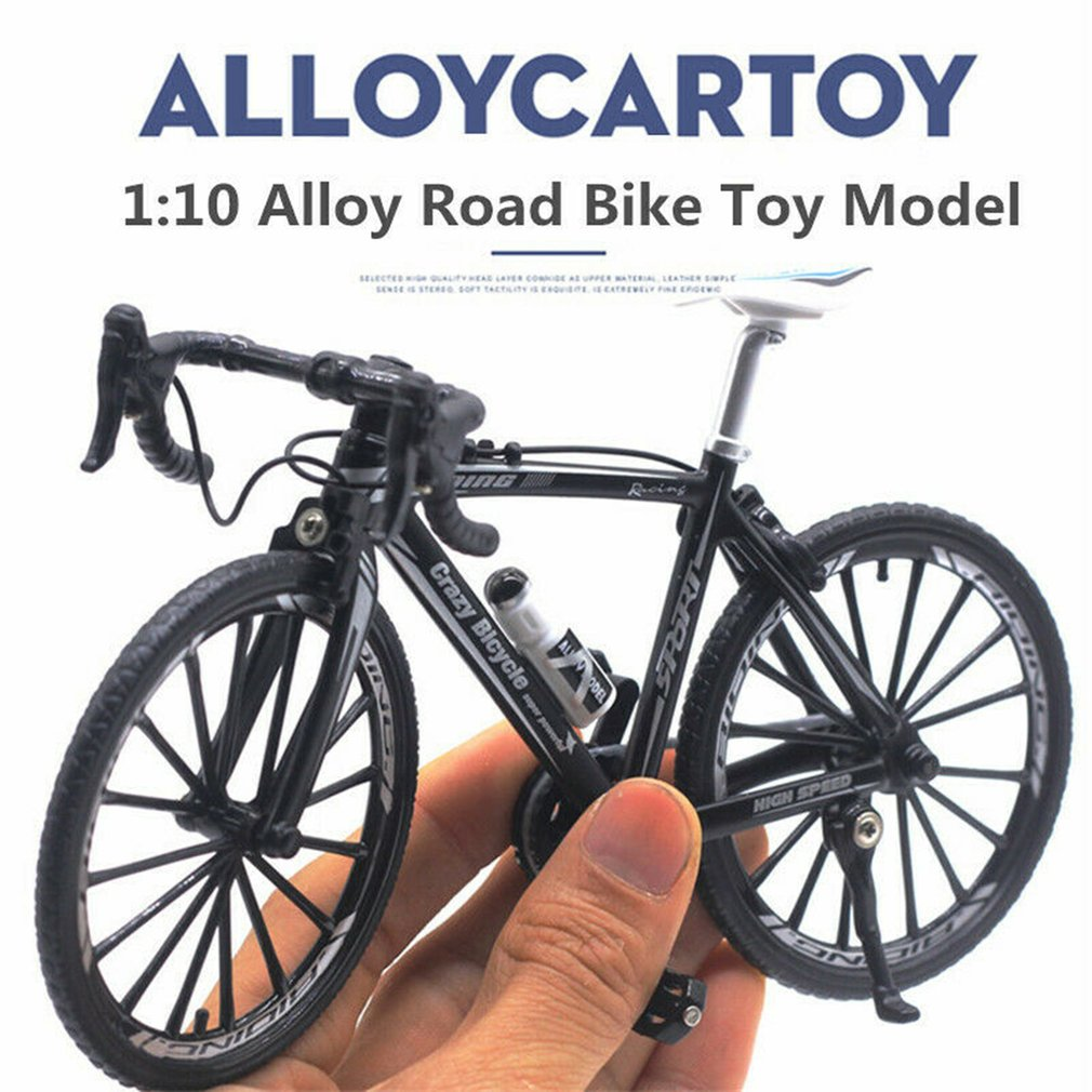 1:10 Scale Alloy Cycling Model 4 Styles City Folded Cycling Road Bike Diecast Metal Alloy Bicycle Models For Kids Collection Toy