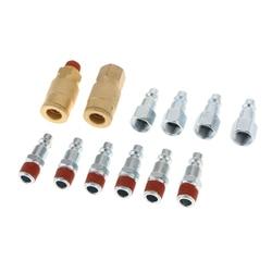 Conjunto de acoplador de liberação rápida de bronze 12pc 1/4 fitting fitting mangueira de ar conector encaixe npt