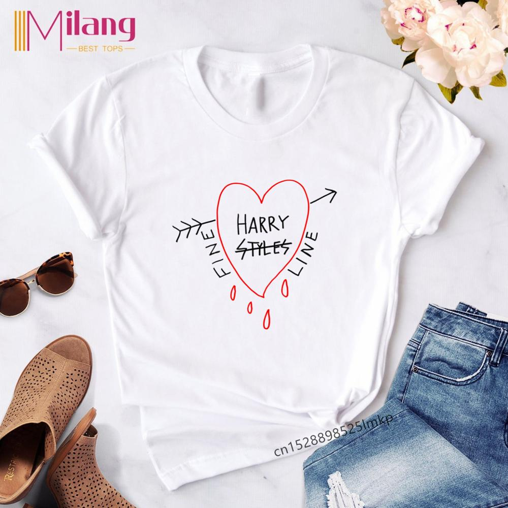 Harry Styles T Shirt Top Casual Kawaii Tee Women Shirts Clothes Ulzzang Korean 90s 2019 Harajuku Female Graphic Femme Summer