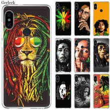 Mobile Phone Case For Xiaomi Redmi Note 4 4X 3 5 6 7 Pro 5A Hard Cover Bob Marleys Lion Rasta Lion Reggae Diy(China)