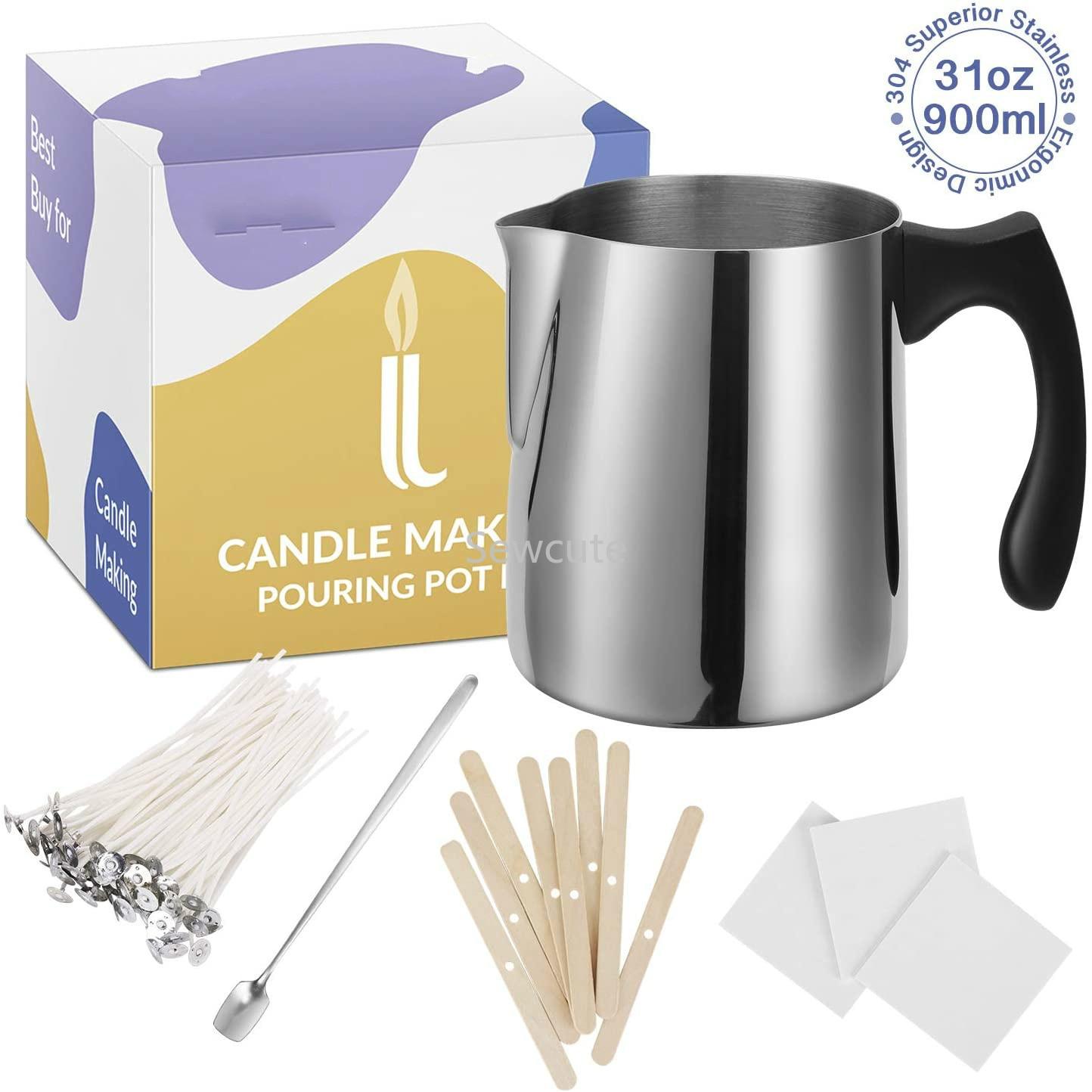 Набор для изготовления свечей, горшок для розлива из нержавеющей стали, без горения, товары для искусства и рукоделия для взрослых, большая ...
