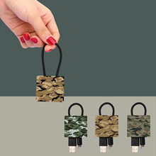 New Style Camouflage Pendant Data Cable Gift Key Ring Pendant Suitable for Apple Android Fast Charge Camouflage Accessories(China)