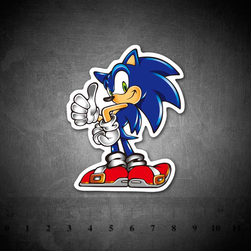 Sonic Hedgehog Game Stickers For Kids Laptop Moto Car Guitar Luggage Skateboard Bicycle Waterproof PVC Fridge Stickers