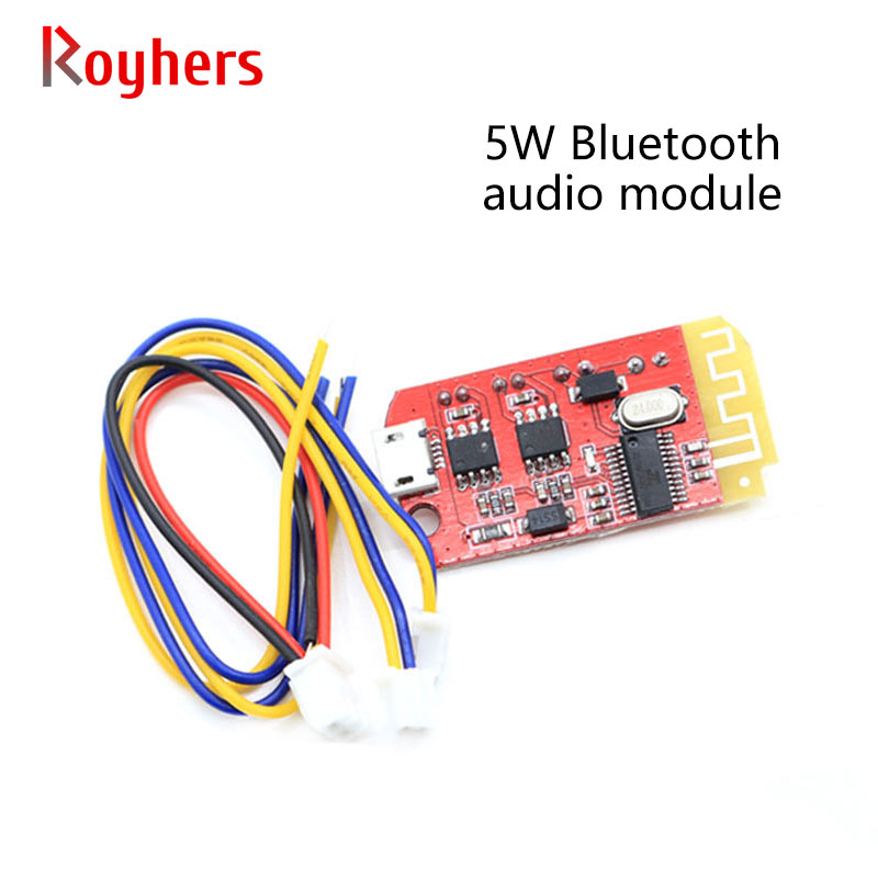 Bluetooth power amplifier board audio module micro 4.2 stereo 5W+5W with charging DIY modified speaker F type module 1Pcs