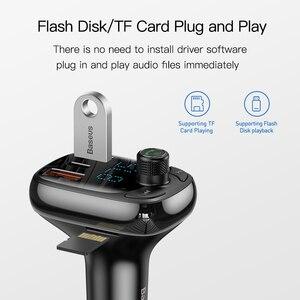 Image 5 - Baseus شاحن سريع 4.0 ، جهاز إرسال FM ، للسيارة ، Bluetooth 5.0 ، شحن سريع ، USB