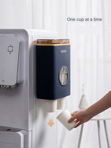 Image 4 - Xiaomi copo de papel descartável copo suporte rack não perfurado chá café recipiente para escritório restaurante máquina de café
