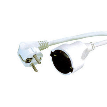 Connection H05VV-F Extension Cord 3x1.5mm 15 M Electro DH 36.762/15/B, White Color, 8430552115457