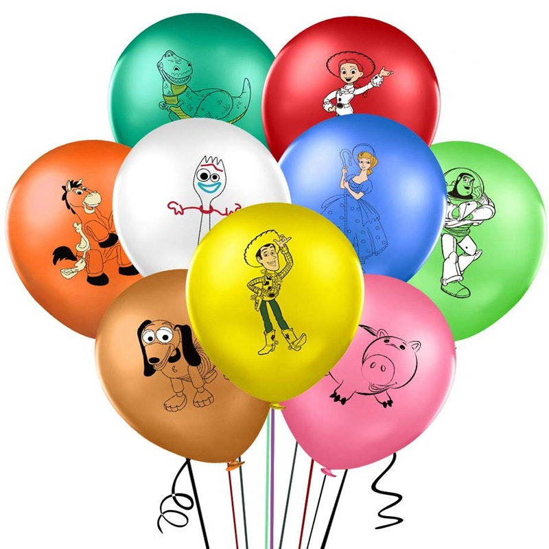 10/20 штук 12 дюймов История игрушек мультфильма воздушный шар с рисунком Базза Лайтера одежда для улицы; Шары из латекса детских празднований ...
