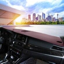 For Skoda Superb car dashboard cover  dash mat pad dashmat non slip board Leather Fannel