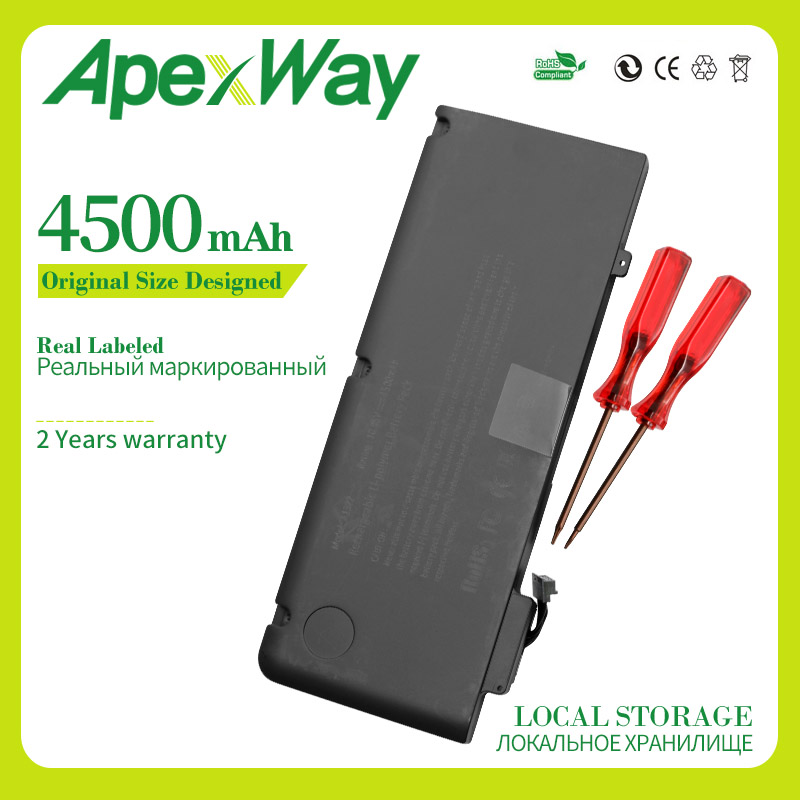 ApexWay 10.95v 4500mah Laptop Battery For Apple A1322 For Macbook PRO 13