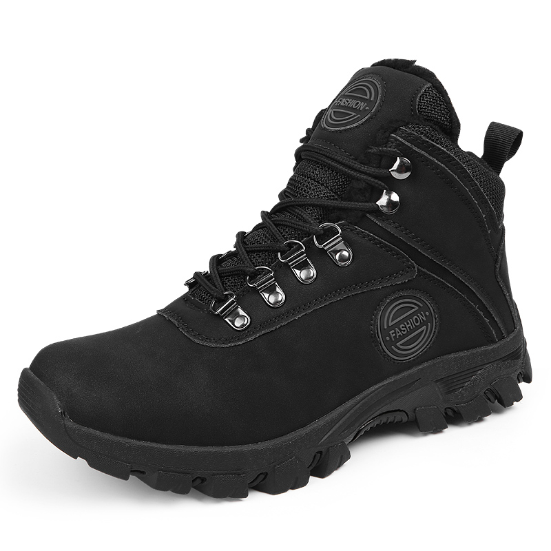 Brand Men Winter Snow Boots Warm Men High Quality Waterproof Leather Sneakers Outdoor Male Hiking Boots Work Shoes %A72