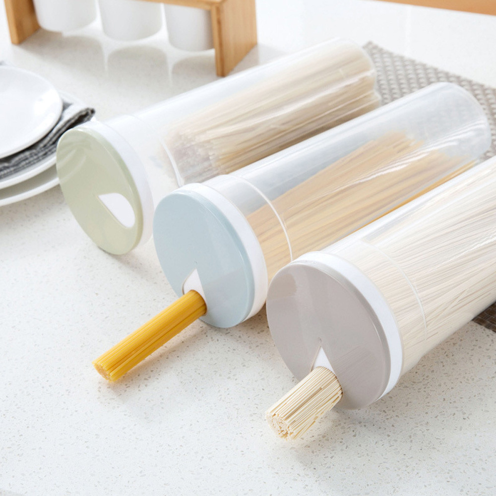 Storage Box Multifunction Spaghetti Cutlery Noodle Storage Box Chopsticks Food Canister Box For Kitchen Containers