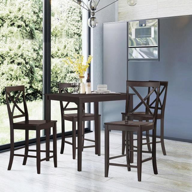 """Set of 2 24"""" Counter Height Barstools 3"""