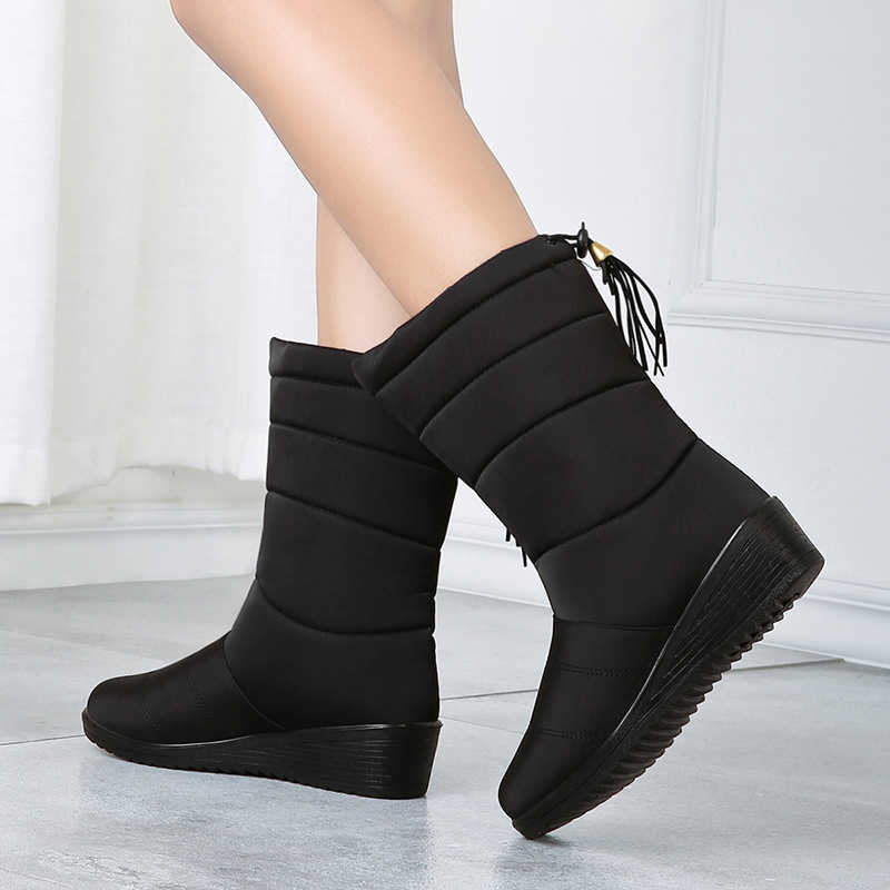 Su geçirmez kadın çizmeler yarım çizmeler kadın kış ayakkabı sıcak kürk kar botları kadın kışlık botlar Bota kadın patik Botas Mujer