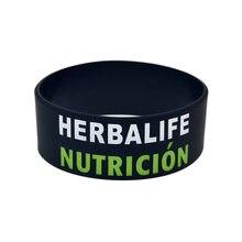 Moda 1 polegada silicone pulseira 24 horas herbalife nutricion pulseira venda quente