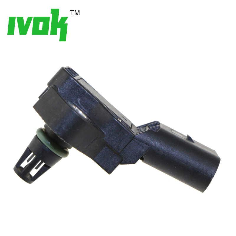 4 バーインテークマニホールドブースト圧 Map センサー Vw アウディ 03K906051 Drucksensor 0281006059