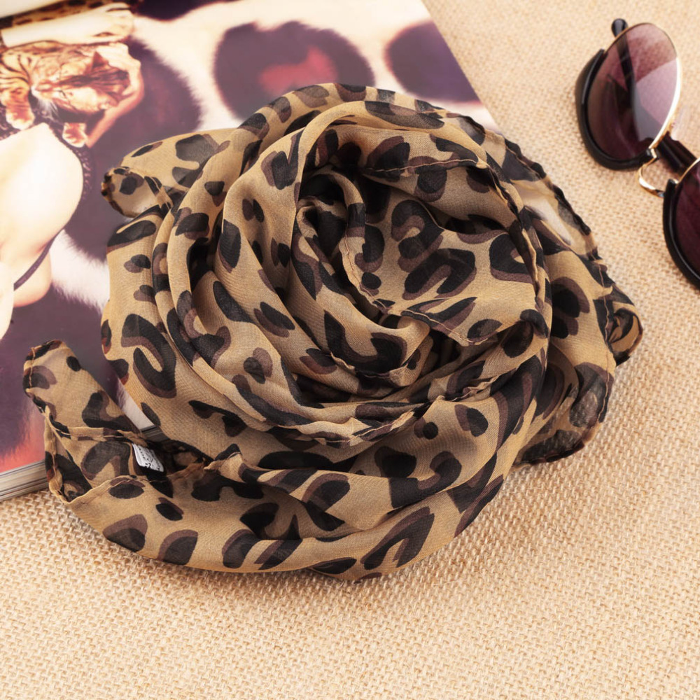 Square Scarves Fashion Design Hot Long Sexy Leopard Scarf Women Warmth Animal Print Leopard Shawl