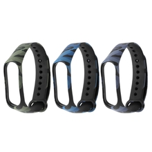 Camouflage Replacement Silicone Wrist Strap Watch Band For Xiaomi MI 3