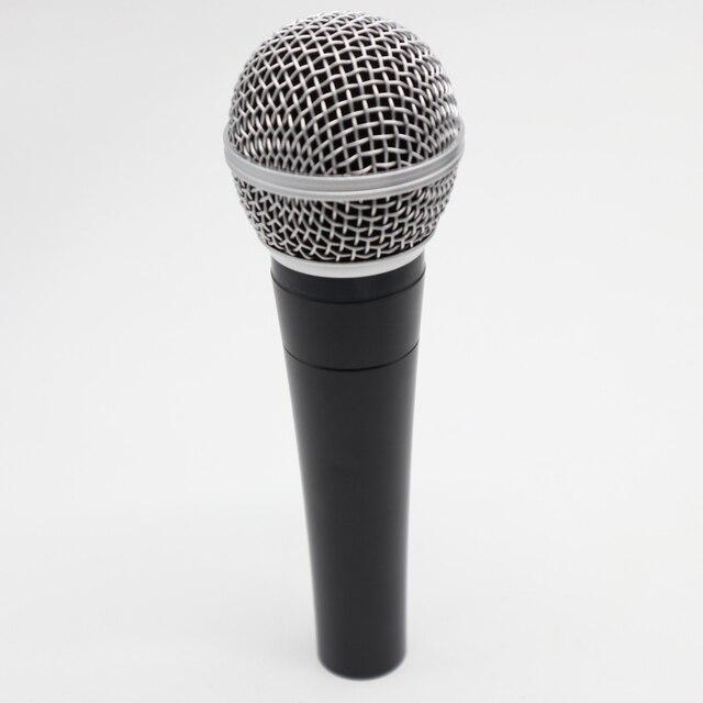 Yüksek kalite versiyonu SM58 profesyonel kardioid dinamik el Karaoke sm 58 kablolu mikrofon mikrofon Microfono Mike Mic