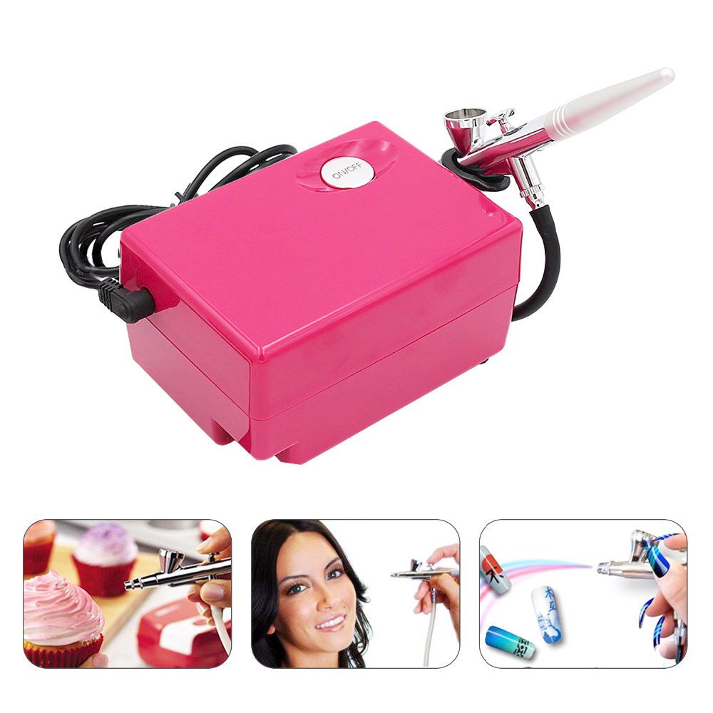 Air Brush Compressor Airbrush 0.4mm Needle Art Kit Set For Body Paint Makeup Craft Toy Models Airbrush Cake Temporary Tattoo