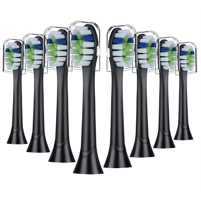 8pcs Black Replacement Toothbrush heads for Phillips Sonicare, Compatible with DiamondClean Smart/ProtectiveClean Gum Health image
