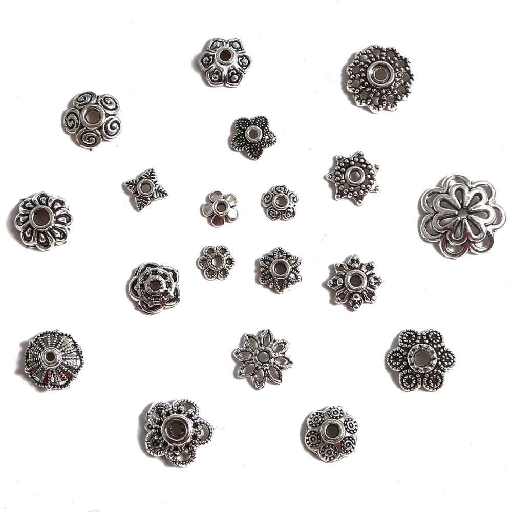 Lots 50 PCS Tibetan Silver Crafts Jewelry Making Findings Ring Spacer Beads 15mm