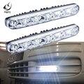 PMFC светодиодный головной светильник отражатели 2 шт мощностью 12v 6 светодиодный дневной светильник Водонепроницаемый универсальные дневны...