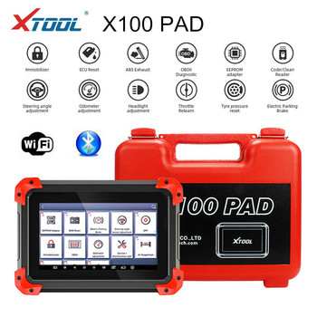 Origional X100 PAD OBD2 Auto Key Programmer OBD2 Scanner Automotive Code Reader IMMO EPB DPF BMS Reset Odometer image