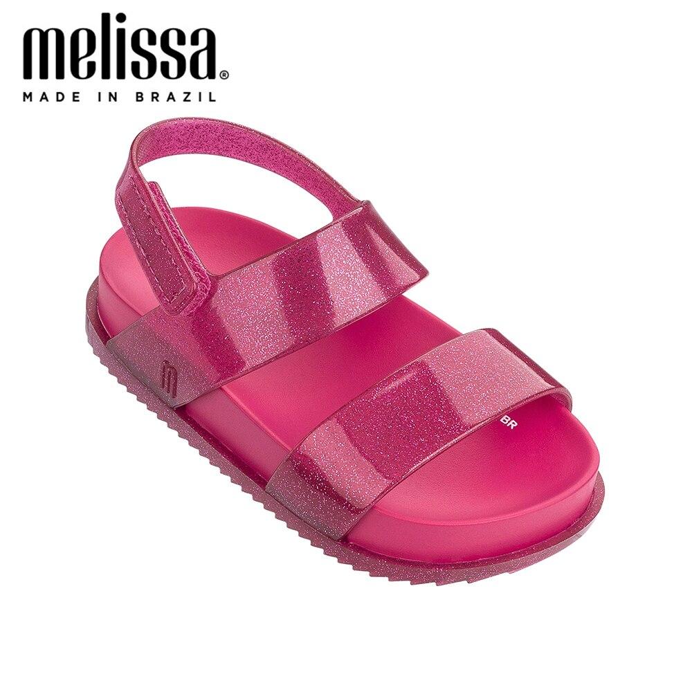 Mini Melissa Girls Bow  Jelly Shoes Cosmic Sandal + Princess Boy Sandals 2020 Bow Shoes Melissa Sandals Kids Non-slip Toddler