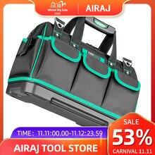 Airajツールバッグポータブル電気技師バッグ多機能修復インストールキャンバス大厚みツールバッグ作業ポケット