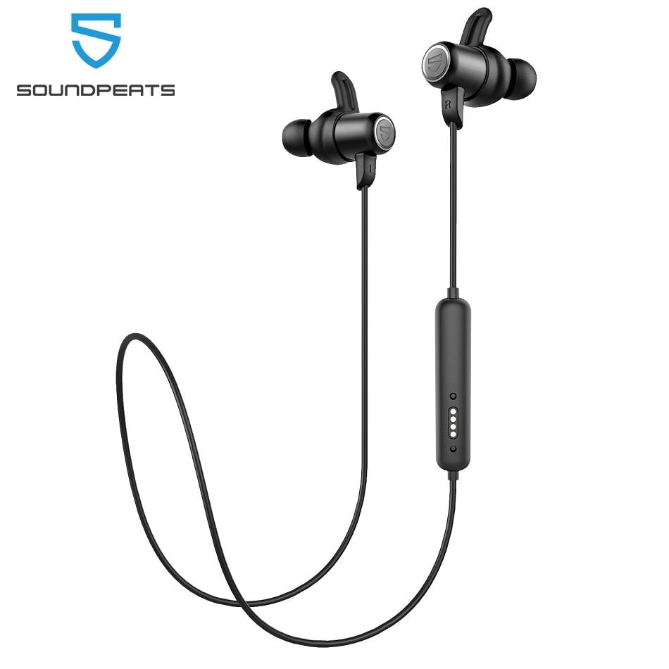 SounPEATS Bluetooth 5,0 беспроводные наушники IPX8 водонепроницаемые спортивные наушники с магнитной зарядкой APTX HD 14 часов работы