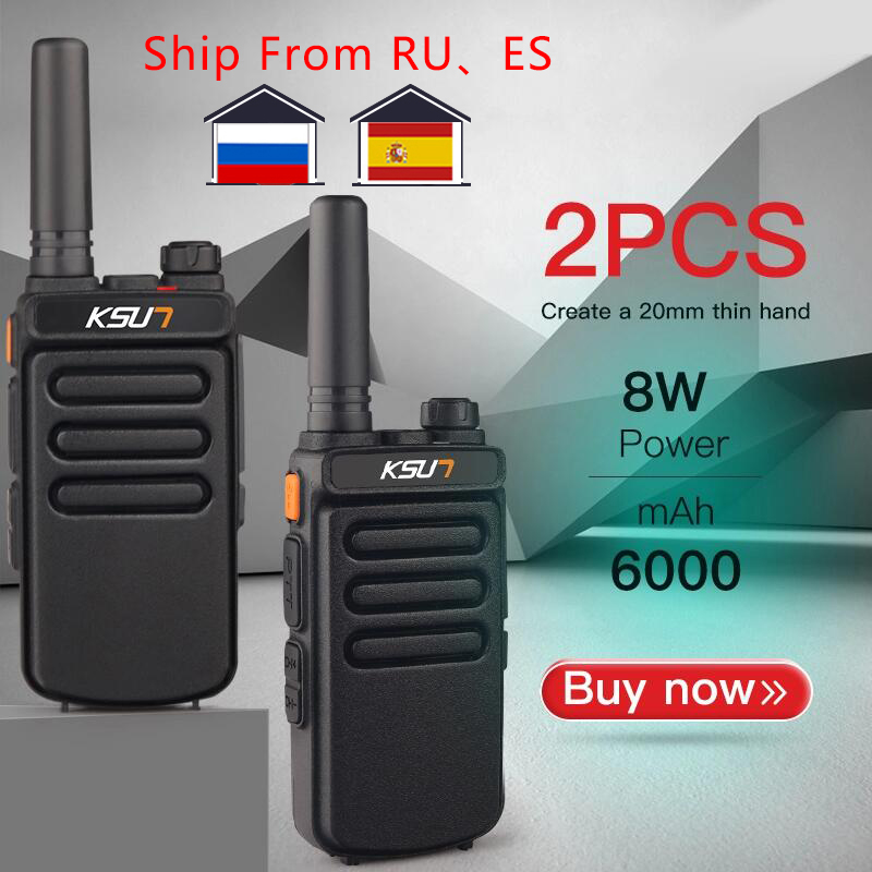 Talkie Radio UHF KSUN Comunicador 10KM 2PCS X65 Two-Way-Ham