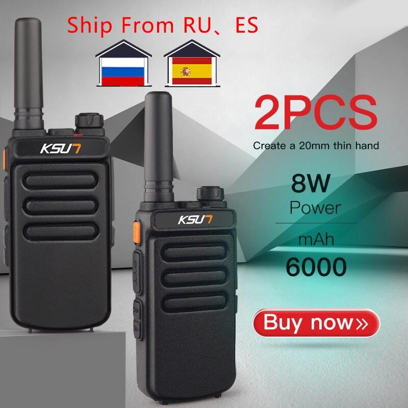Переносная рация KSUN X65, радиостанция двухсторонней связи, УВЧ, 10 км, 1 или 2 шт.