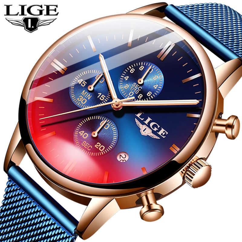 2020 אופנה גברים של שעונים למעלה מותג יוקרה צבאי עמיד למים שעון זכר מזדמן חגורת רשת ספורט קוורץ שעון גברים שעוני יד