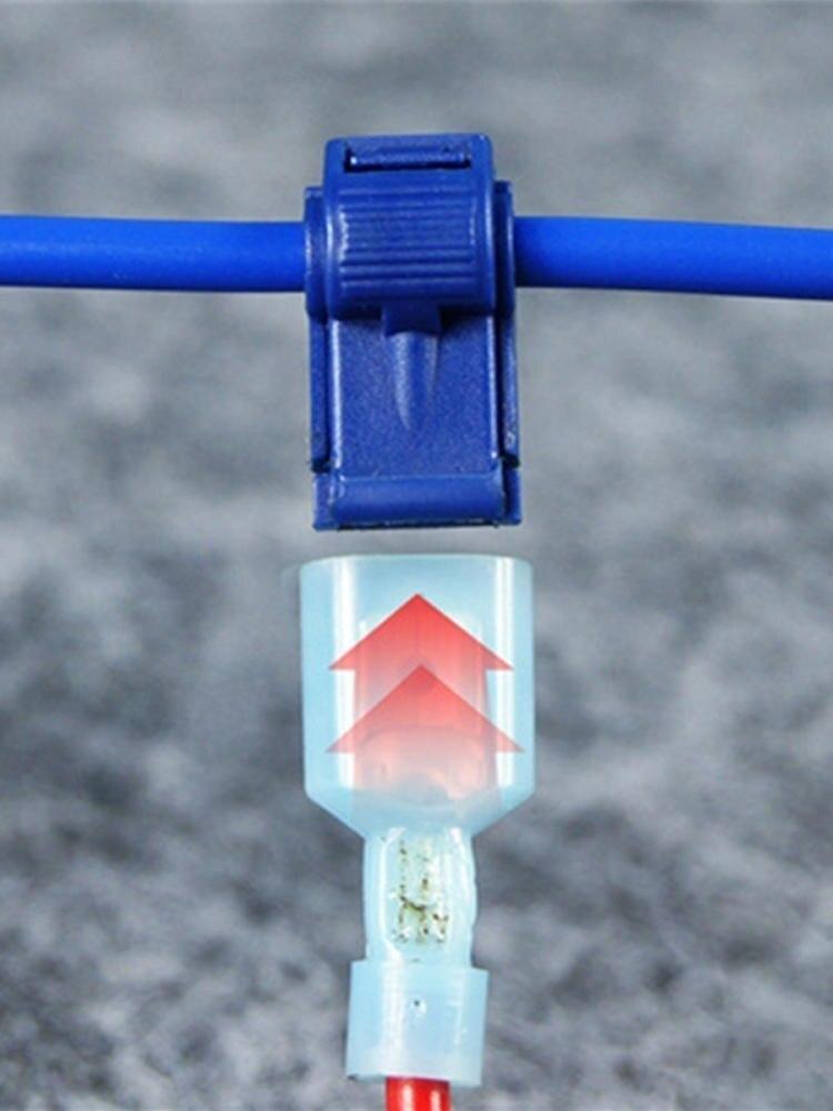 Cable-Connectors Wire-Terminal Splice Electric-Accessory Crimp-Wire Lock Snap 20pcs 10set