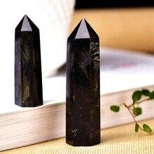1pc ponto de cristal natural astrophyllite pedra cura coluna de quartzo fogos de artifício pedra ornamento para decoração casa energia reiki mineral