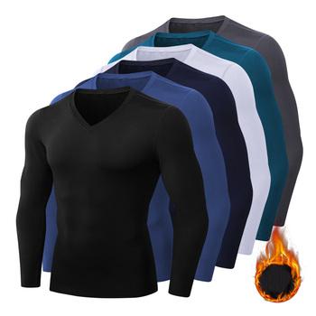 Męska koszulka kompresyjna do biegania Fitness dopasowana długa koszulka sportowa koszulka treningowa do biegania koszule odzież sportowa na siłownię Quick Dry Rashgard tanie i dobre opinie CN (pochodzenie) Wiosna AUTUMN Winter Poliester Pasuje prawda na wymiar weź swój normalny rozmiar thermal underwear for men