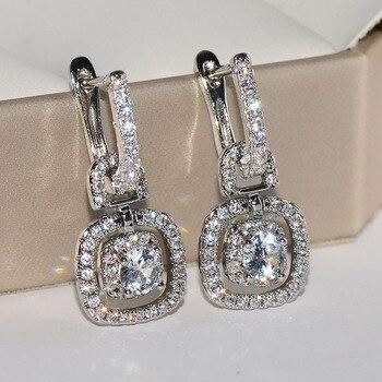 Pendientes De plata De ley S925 con diamantes naturales para Mujer, pendientes De Mujer, pendientes De plata De ley 925, joyería De Mujer, pendientes De gota