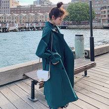 New Trench Coat Women Autumn 2019 Fashion Casual Windbreaker Loose Wide-waisted Long Spring Outerwear