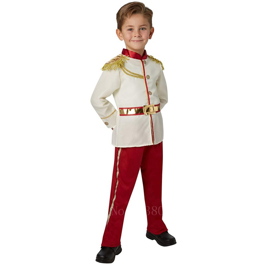 Children Fancy Halloween Prince King Cosplay Costume Europe British Fairy Tale Stage Party Carnival Boys Noble Gentleman Outfits